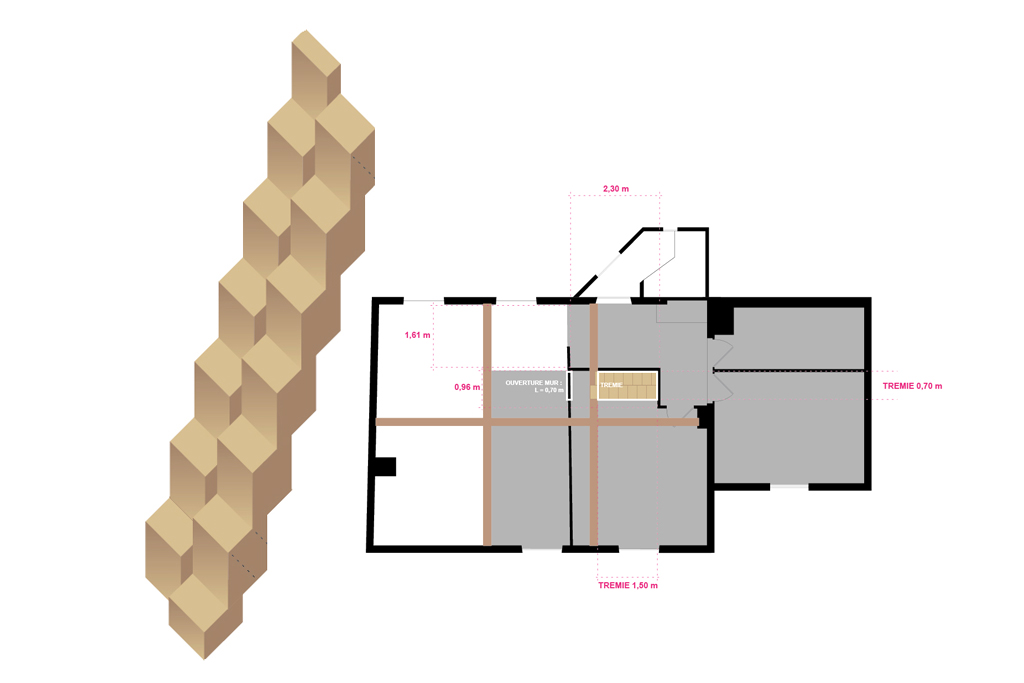ROYAL ROULOTTE -★- STAIRS PLAN