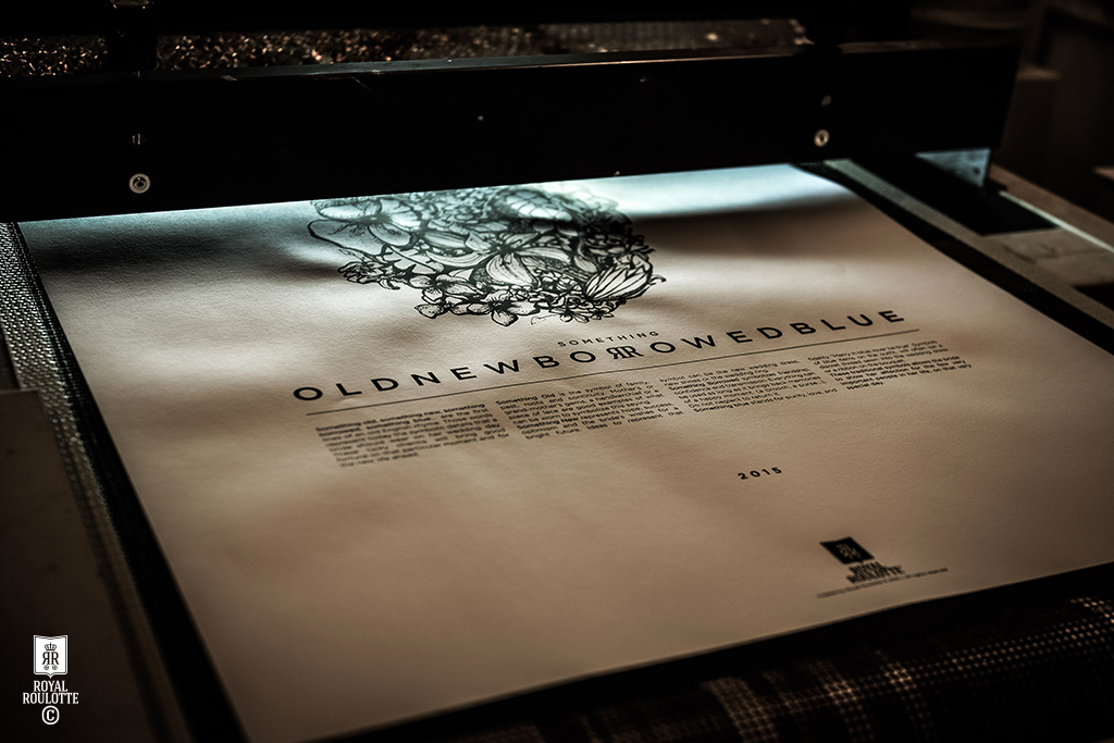 ROYAL ROULOTTE -★- POSTER PRINT SOMETHING OLD NEW BORROWED BLUE WEDDING LOVE
