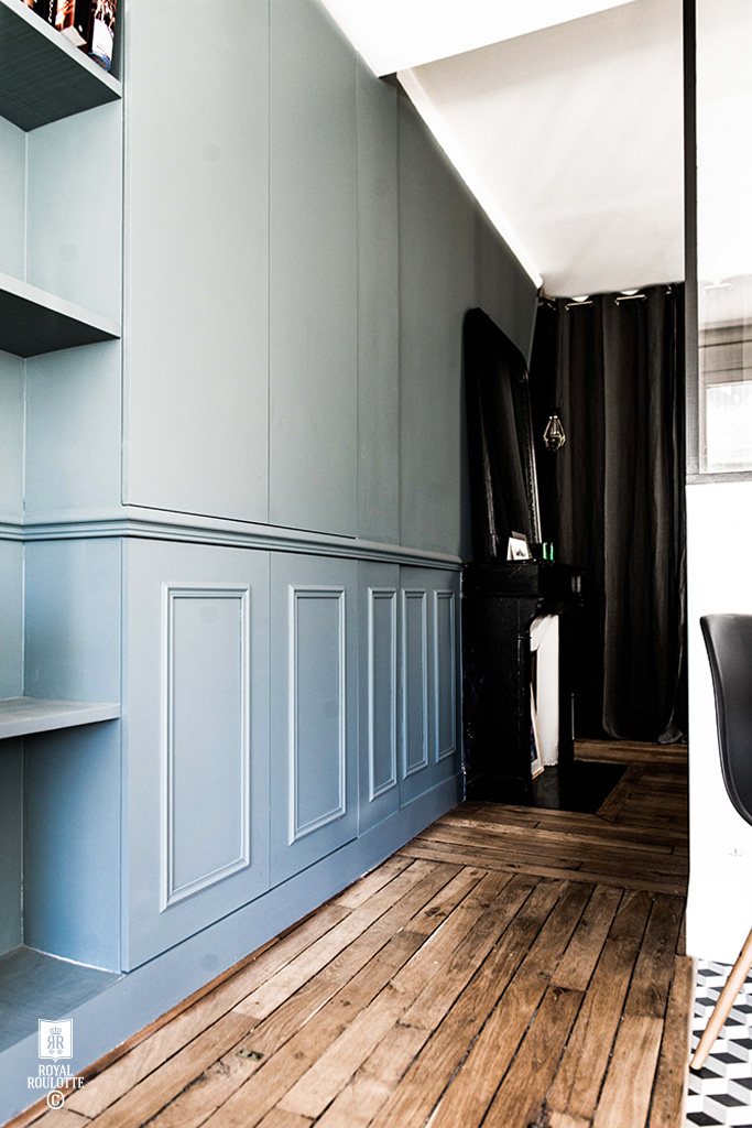 ROYAL ROULOTTE PARIS -★- APPARTMENT RENOVATION / HOME DECOR / BLUE WALL / HIDDEN CLOSET